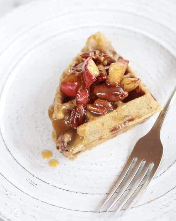 Brown Butter Waffles With Honey-Apples And Pecans Recipe ...