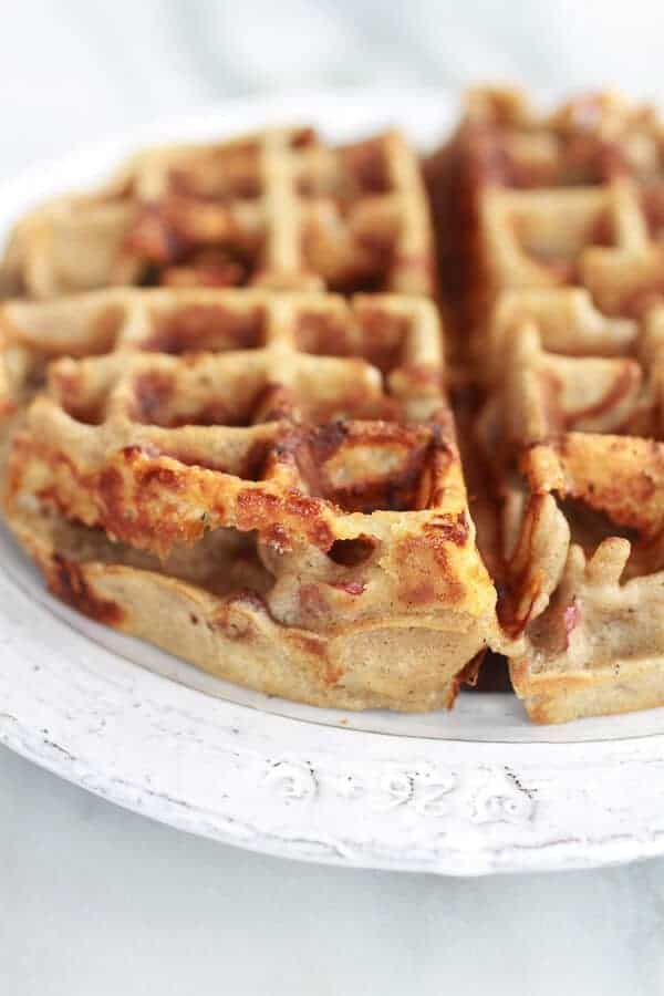 Roasted Apple Pecan and Brie Buckwheat Waffles with Bourbon Caramel ...