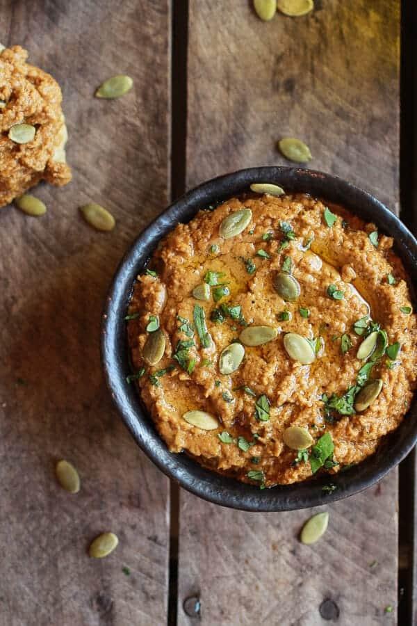 Roasted Pumpkin Seed Hummus | halfbakedharvest.com