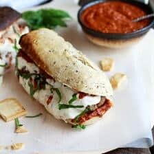 Easy Burrata Cheese Stuffed Spicy Meatball Subs
