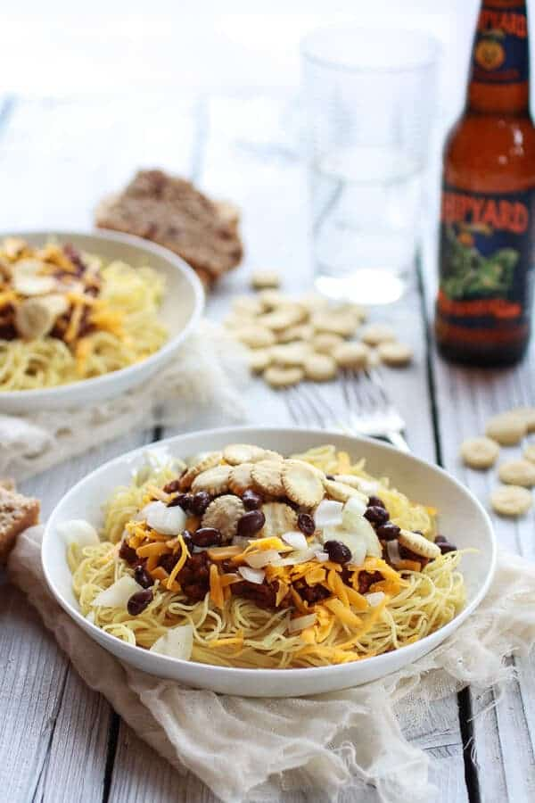 Healthier One-Pot Cincinnati Chicken Chili | halfbakedharvest.com