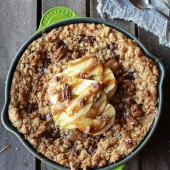Oatmeal Chocolate Chunk Salted Coffee Caramel Apple Skillet Cookie-1