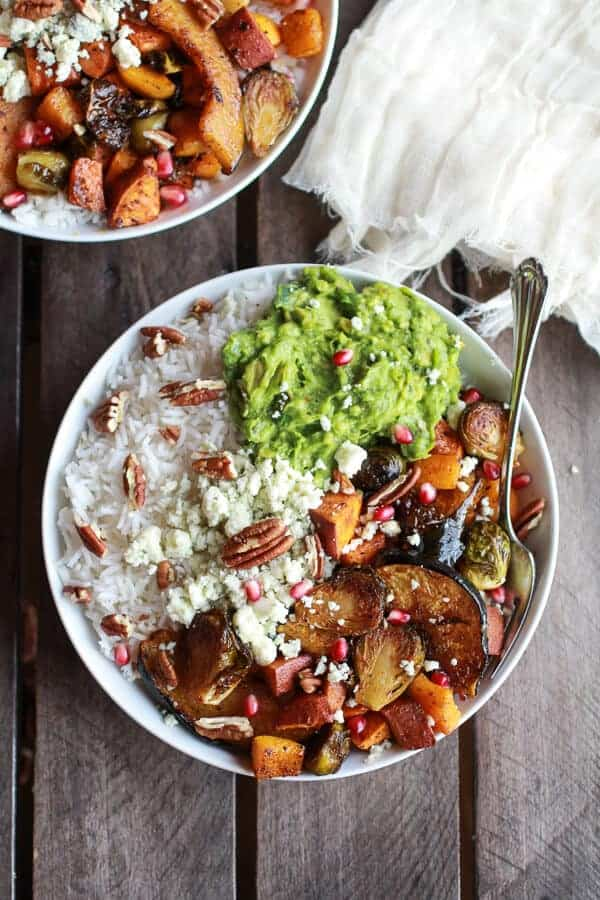 Roasted Harvest Veggie, Curried Avocado + Coconut Rice Bowls | halfbakedharvest.com
