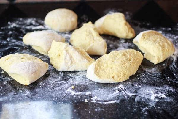 Super Easy Crusty No-Knead Pumpkin Bread Bowls-5