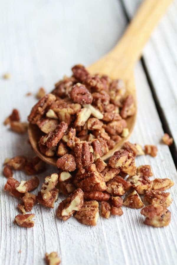 Sweet and Salty Bourbon Cinnamon Pecan Caramel Apples + Chocolate Drizzle | halfbakedharvest.com