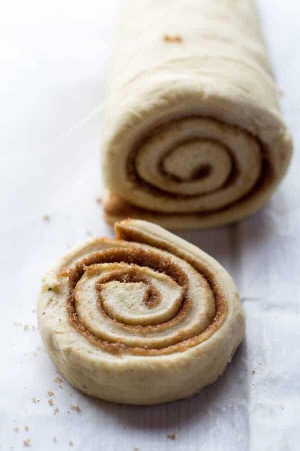 Easy Fluffy Eggnog Cinnamon Rolls-9