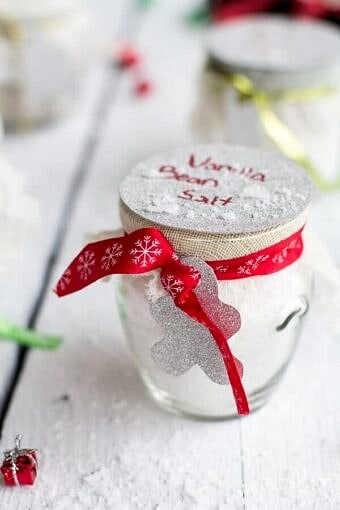 Homemade Holiday Gifts- Vanilla Bean Salt + Vanilla Bean Sugar | halfbakedharvest.com @hbharvest