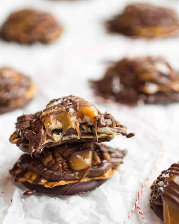 (Idiot Proof) Salted Chocolate Covered Pretzel Nutella Turtle Cookies | halfbakedharvest.com