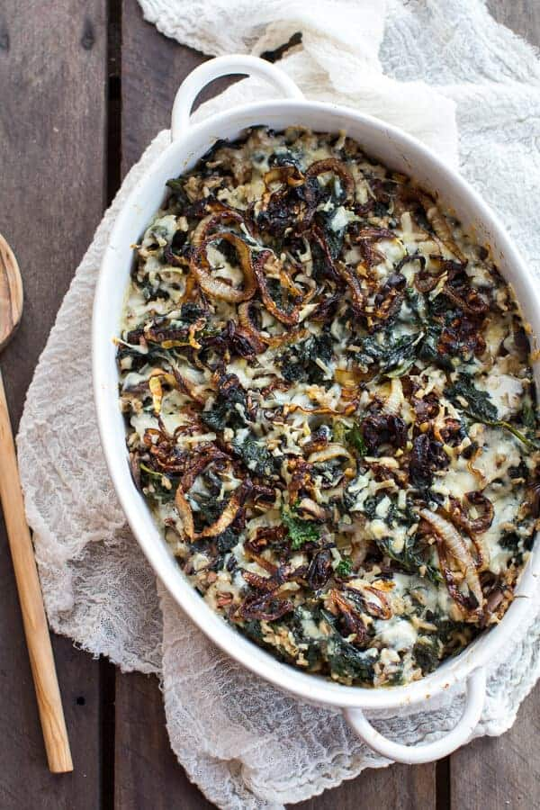 Kale and Wild Rice Casserole | halfbakedharvest.com @hbharvest