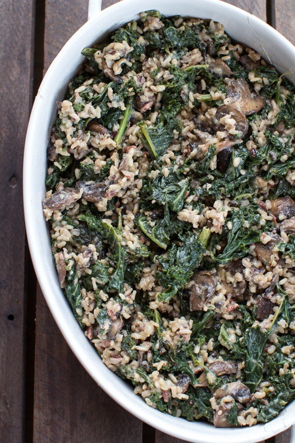 Kale and Wild Rice Casserole | halfbakedharvest.com