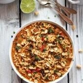 Thai Peanut Chicken and Ramen Noodle Soup-18