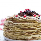 Toasted Coconut Cream Rum and Chocolate Mousse Crepe Cake-8