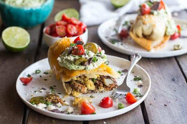 Breakfast Chimichangas with Avocado + Cajita Cheese | halfbakedharvest.com