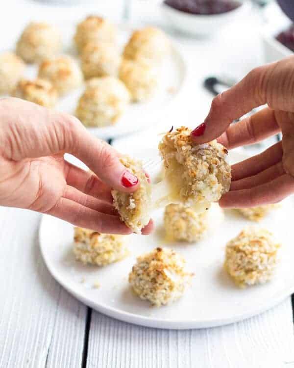 Coconut Crusted Brie Stuffed Quinoa Bites | halfbakedharvest.com