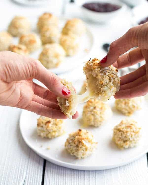 Coconut Crusted Brie Stuffed Quinoa Bites-7