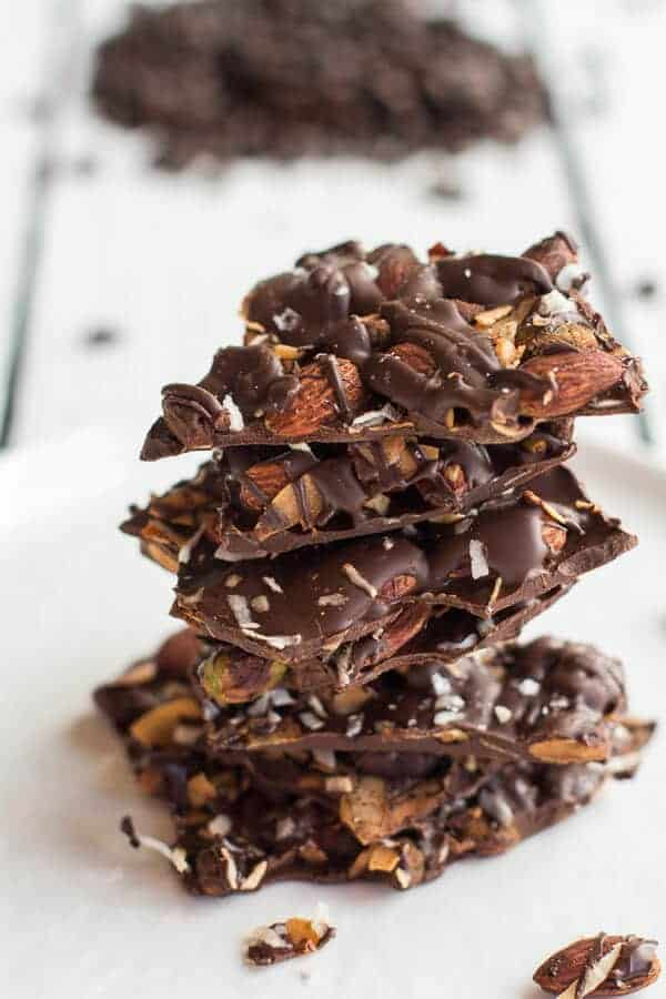 Coffee Roasted Almond + Toasted Coconut Dark Chocolate Bark