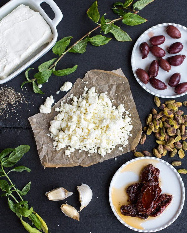 Crazy Greek Feta, Sun-Dried Tomato and Pistachio Truffles | halfbakedharvest.com