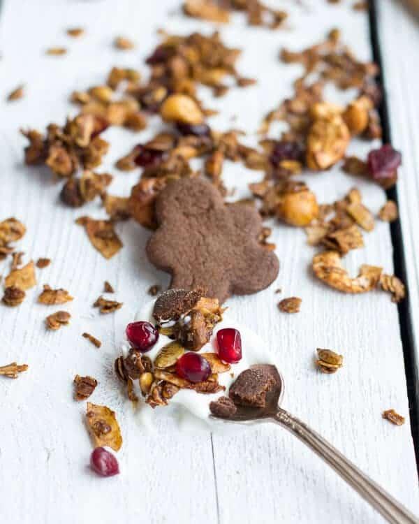 Gingerbread Boy Granola | halfbakedharvest.com