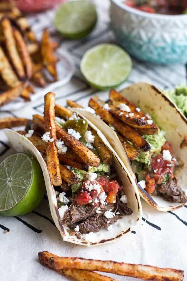 Loaded Crockpot Carne Asada Tacos | halfbakedharvest.com