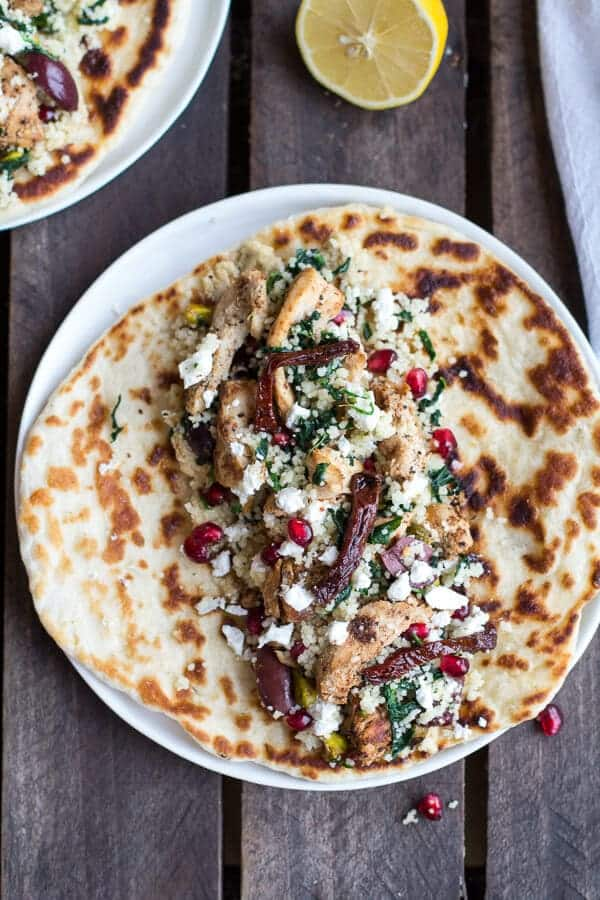 Middle Eastern Chicken and Couscous Wraps with Goat Cheese | halfbakedharvest.com