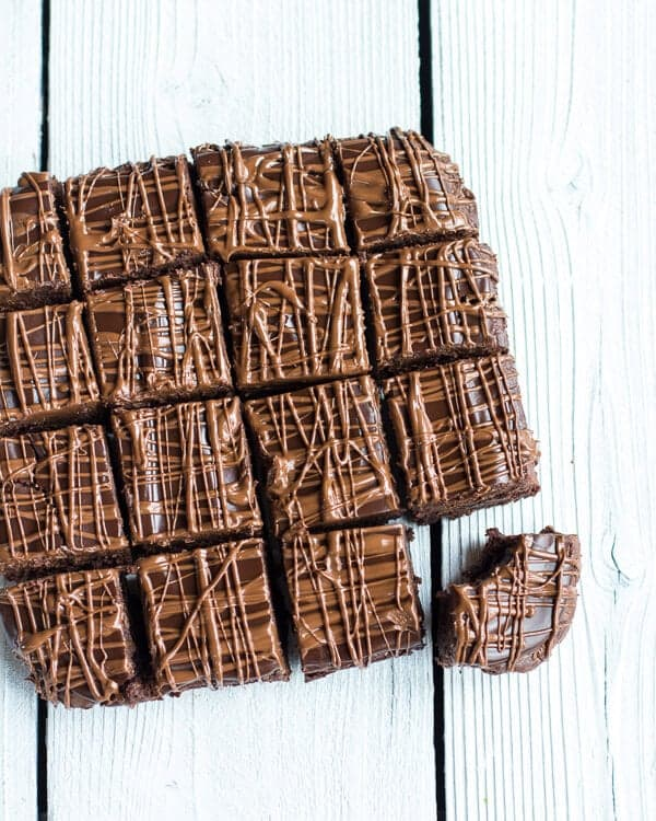 Milk Chocolate Peanut Butter Truffle Brownies | halfbakedharvest.com