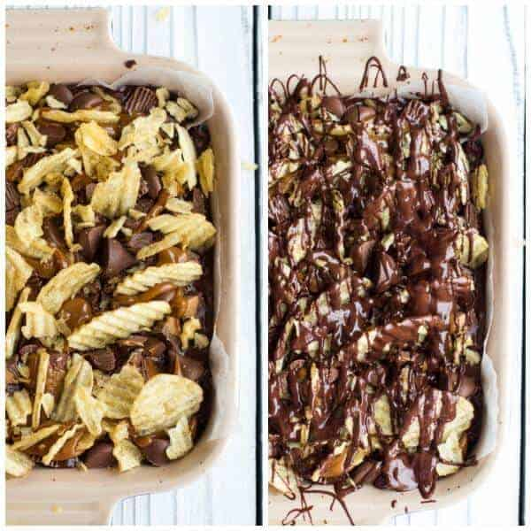 Loaded Peanut Butter Chocolate Covered Potato Chip Dulce De Leche Fudge (+ A KitchenAid Giveaway) | halfbakedharvest.com