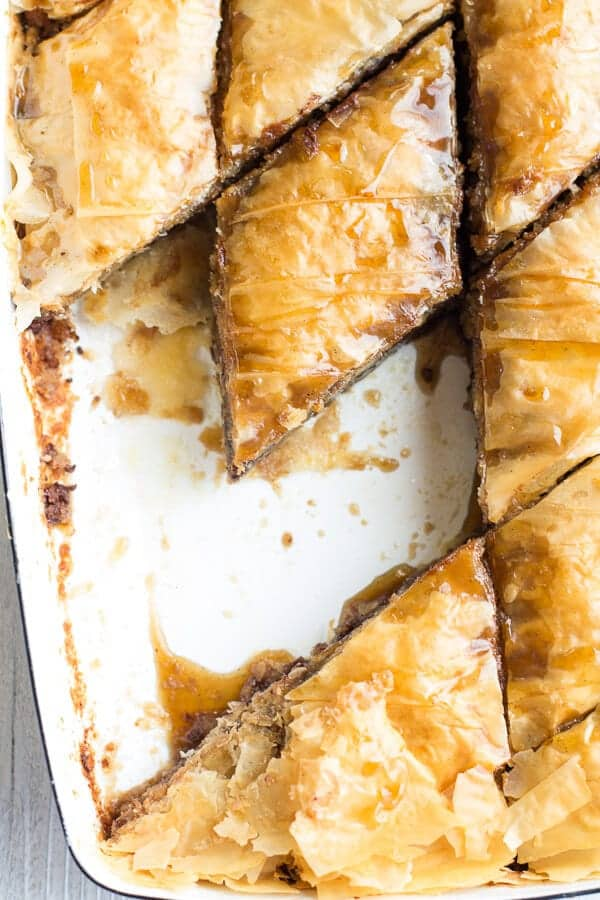 Salted Chocolate Chip Cookie Baklava | halfbakedharvest.com