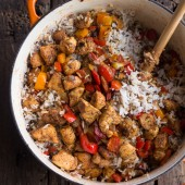30 Minute Healthy Cajun Chicken and Rice-4