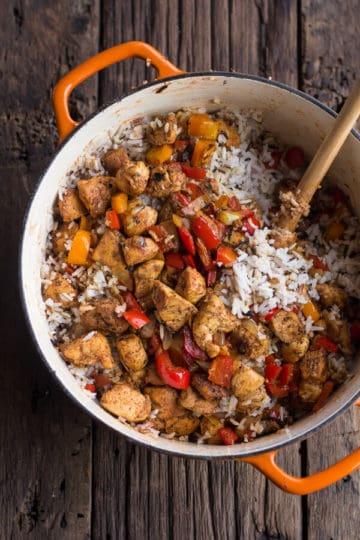 30 Minute Healthy Kickin' Cajun Chicken and Rice + Video.