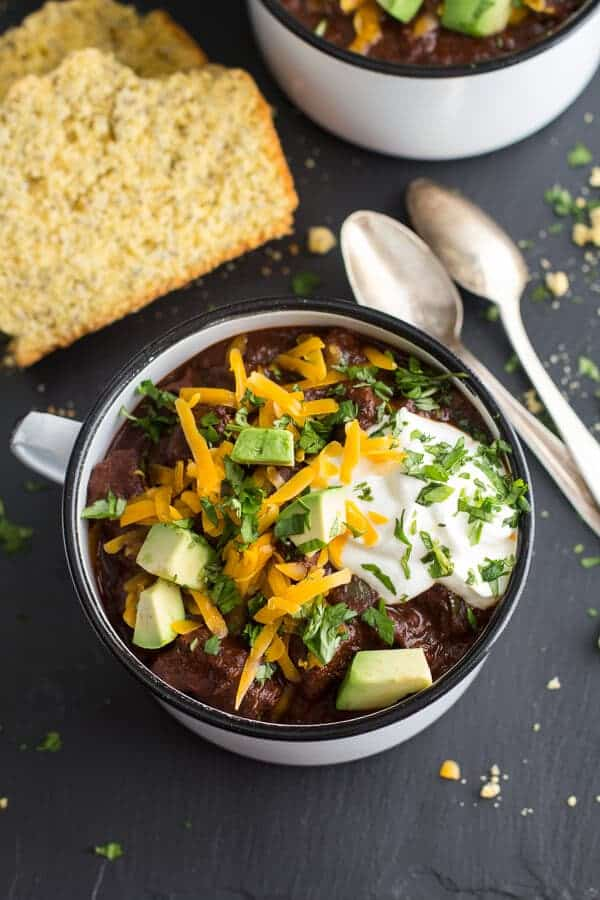 Smoky Chipotle Black Bean Chili With Fresh Salsa Recipe — Dishmaps