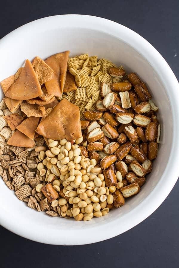 Buffalo Cheddar Chex Mix | halfbakedharvest.com