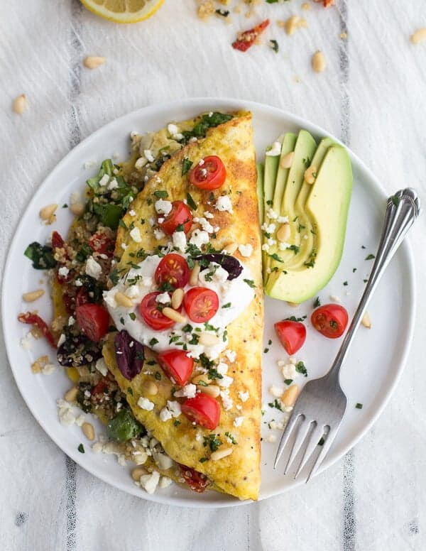 Simple greek quinoa dinner omelets with feta and tzatziki half mad greek quinoa dinner omelets with feta and tzatziki halfbakedharvest forumfinder Gallery