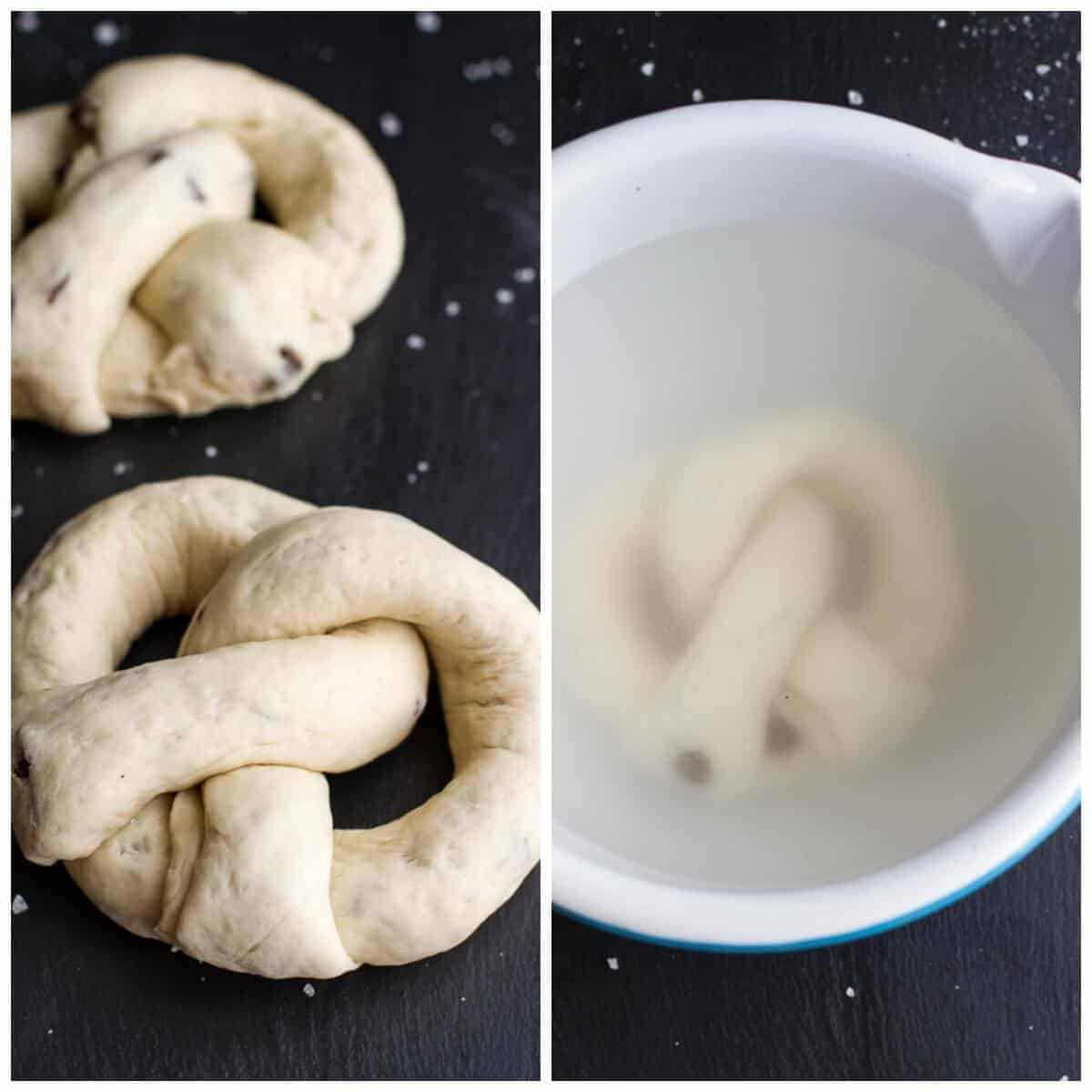 Warm Chocolate Chip Cookie stuffed Soft Pretzels | halfbakedharvest.com