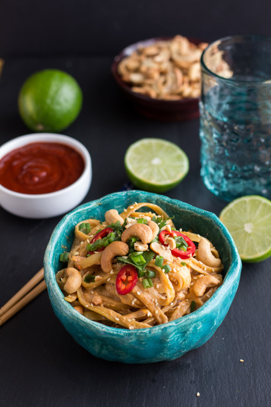 Sriracha Lime and Creamy Cashew Fettuccine with Toasted Sesame Seeds-7