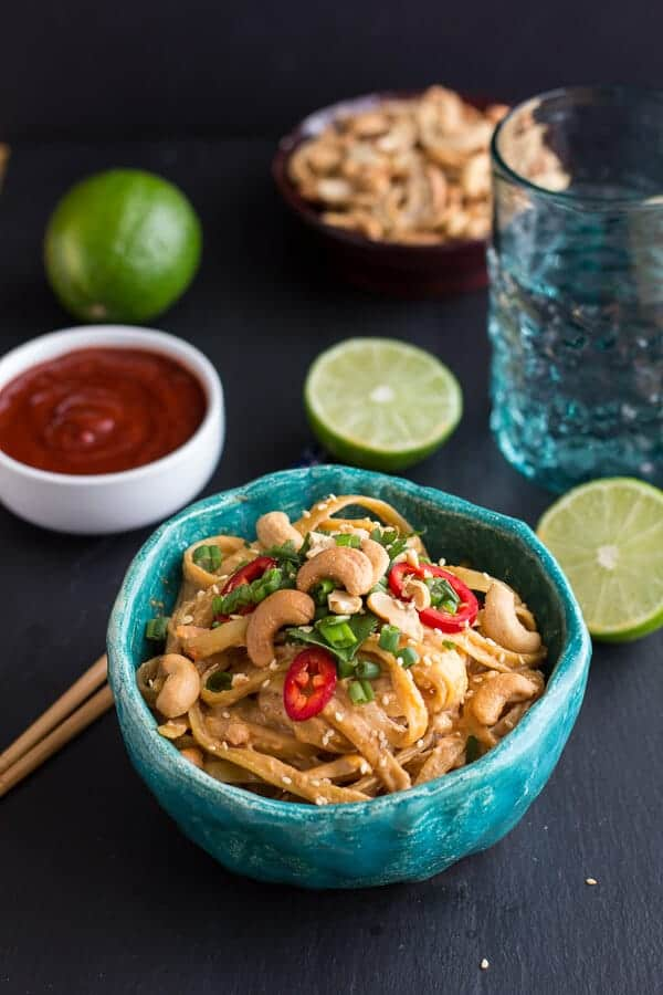 20 Minute Sriracha Lime and Creamy Cashew Fettuccine | halfbakedharvest.com