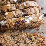 Toasted Coconut and Chocolate Chunk Roasted Banana Bread.