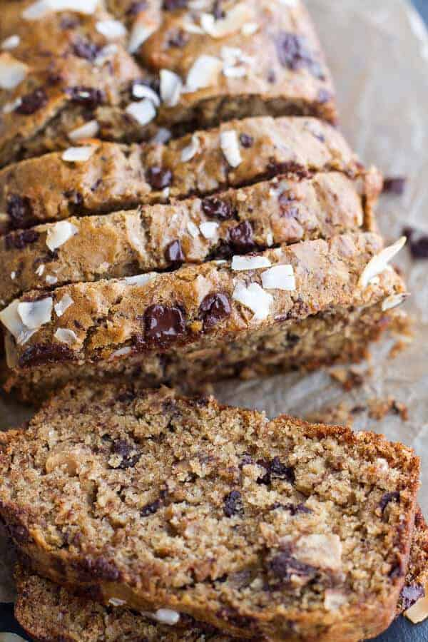 Toasted Coconut and Chocolate Chunk Roasted Banana Bread-10