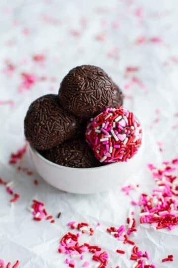Brigadeiros (Brazilian Chocolate Truffles).