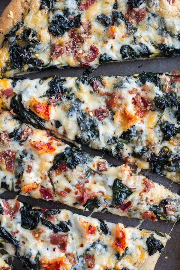 ... Lobster and Spinach Pizza with Bacon + Fontina | halfbakedharvest.com