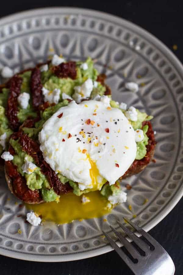 Harissa, Smashed Avocado + Egg Toast with Goat Cheese and Honey ...