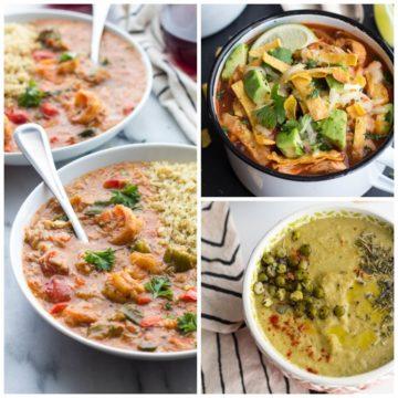 Seafood Gumbo + Herbs de Split Pea Soup + Chipotle Chicken Tortilla Soup.