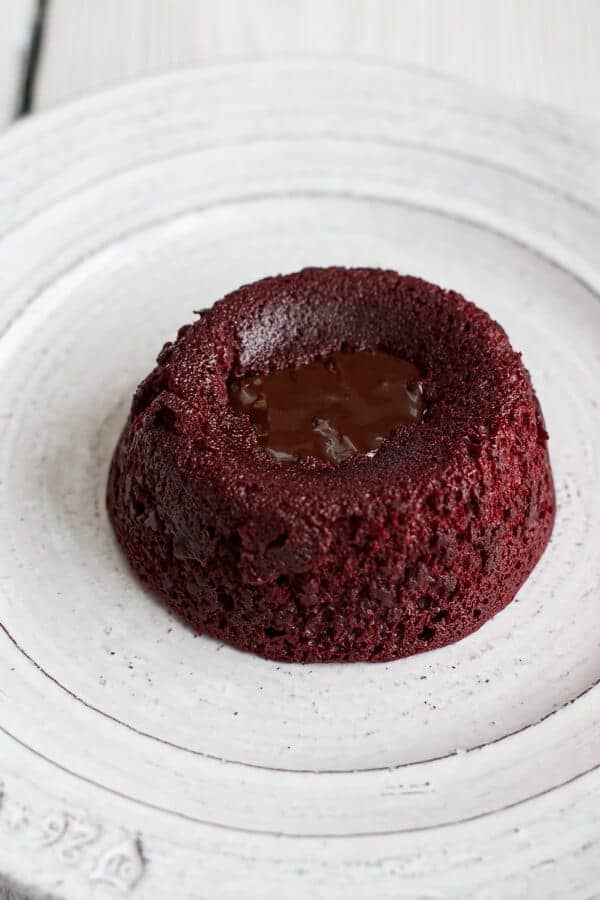 Red Velvet Molten Chocolate Lava Cakes with Chocolate Ganache Center | halfbakedharvest.com