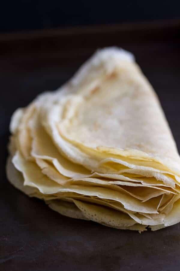 Steak, Spinach and Mushroom Crepes with Balsamic Glaze | halfbakedharvest.com