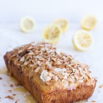 Toasted Coconut Lemon Bread with Salted Honey Butter.