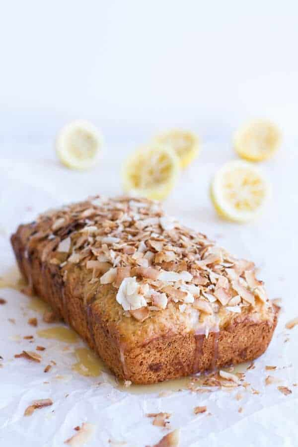 Toasted Coconut Lemon Bread with Salted Honey Butter | halfbakedharvest.com
