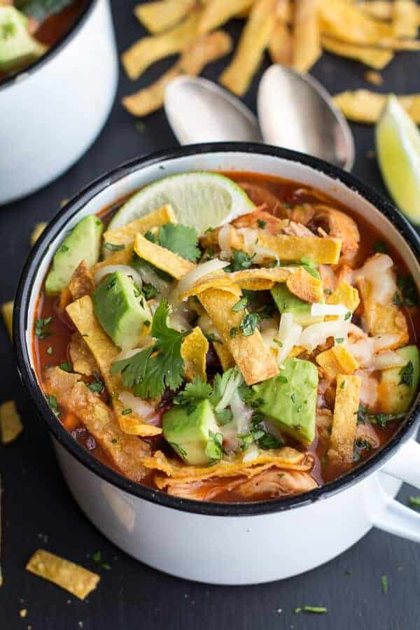 Chipotle Chicken Tortilla Soup | halfbakedharvest.com