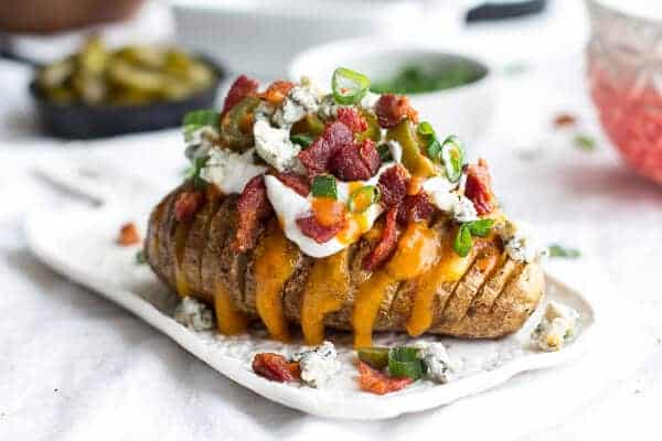 Loaded Hassleback Potatoes | halfbakedharvest.com