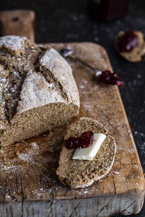 Beer and Rye Irish Soda Bread | halfbakedharvest.com