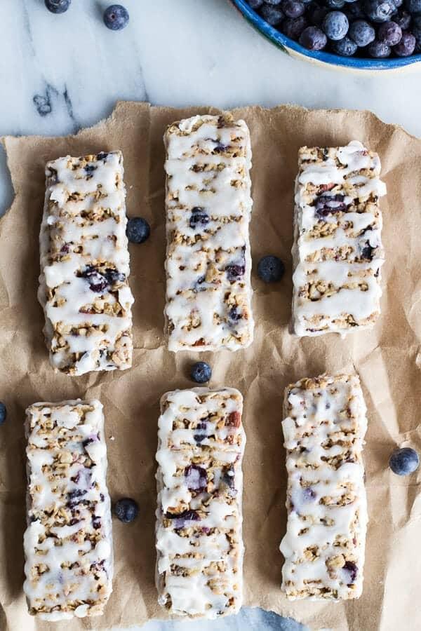 Blueberry Vanilla Greek Yogurt Granola Bars | halfbakedharvest.com @hbharvest