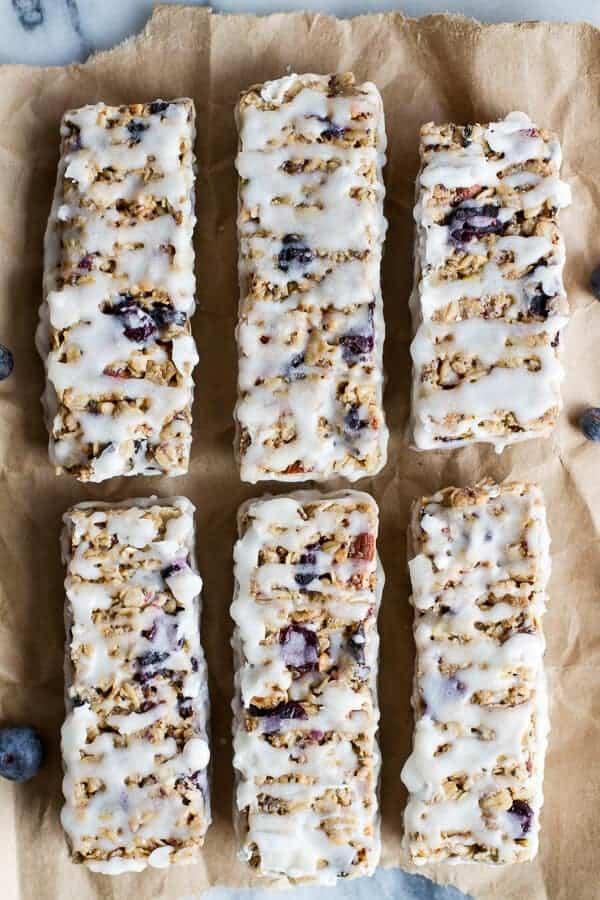 Blueberry Vanilla Greek Yogurt Granola Bars | halfbakedharvest.com